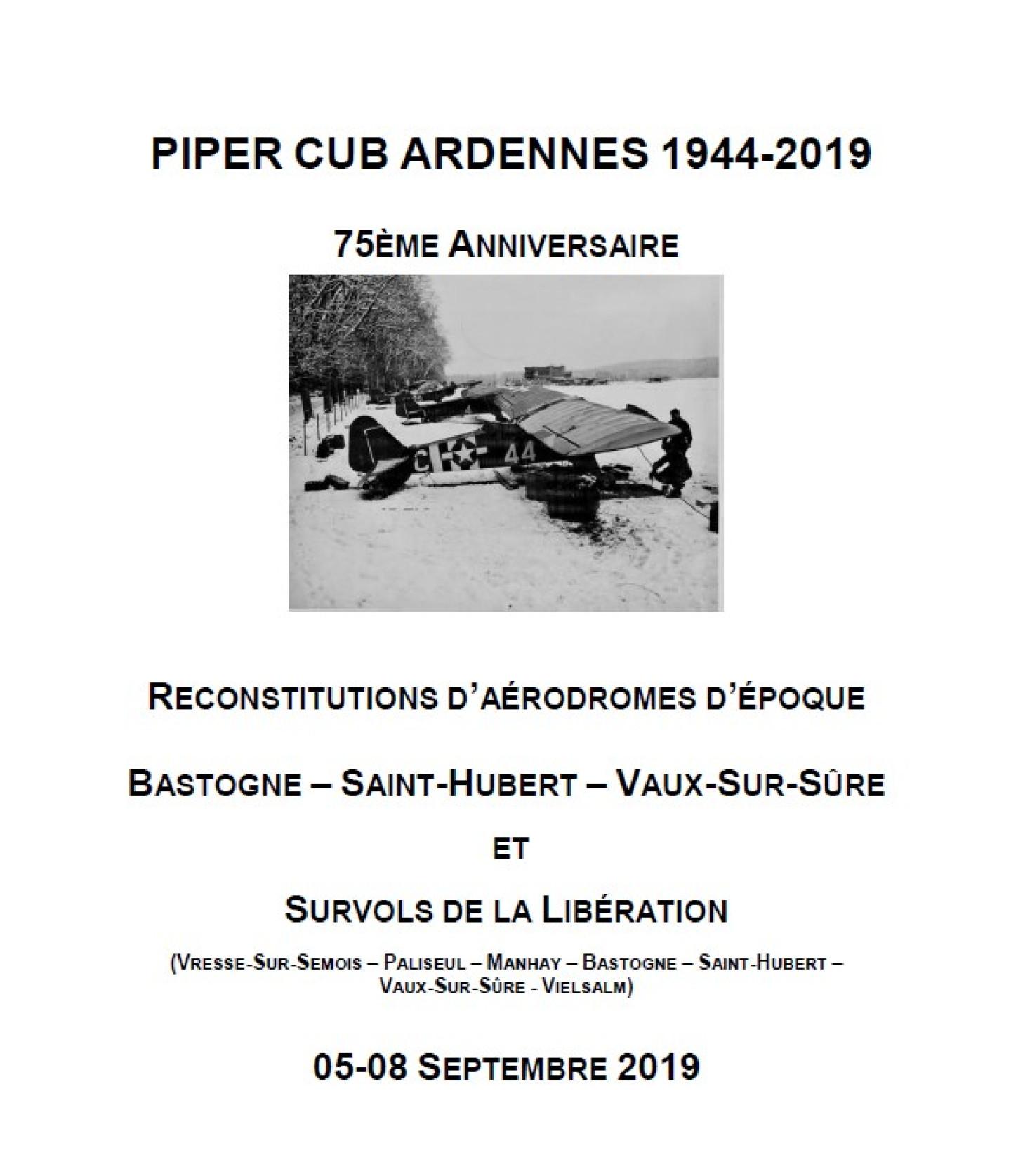 Piper Cub Ardennes 1944-2019